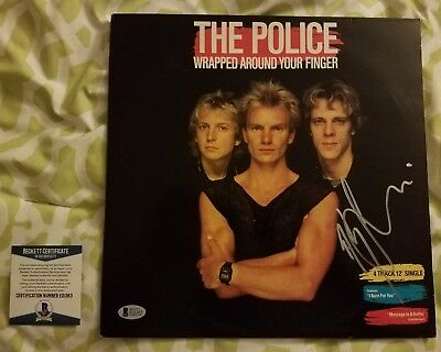 "Andy Summers signed The Police vinyl record 12"" single Beckett / BAS #E31263"