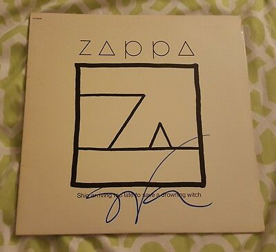 "Steve Vai signed Frank Zappa vinyl LP record ""Ship Arriving..."" w/ exact proof"