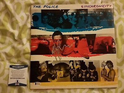 Andy Summers signed Synchronicity by The Police vinyl record Beckett/BAS #E31264