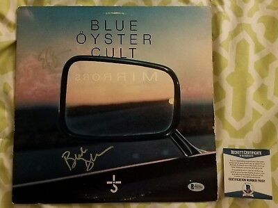 Blue Oyster Cult (Dharma/Bloom) signed Mirrors vinyl record Beckett/BAS F61511