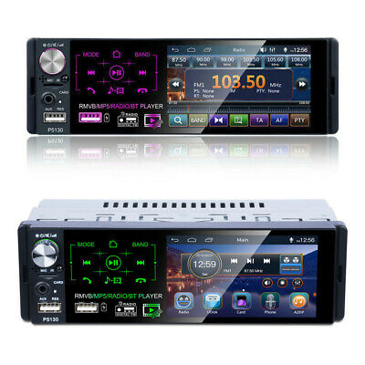 """4.1"""" Single 1Din Touch Car Stereo MP5 Player RDS AM FM Radio BT AUX USB TF"""