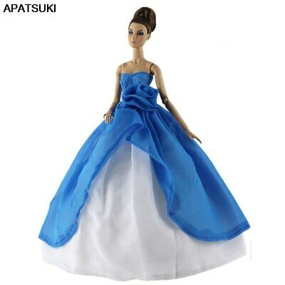 1set Colorful High Fashion Wedding Dress for 11.5in Doll Clothes Mermaid Outfits