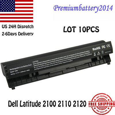 LOT 10PCS Battery for Dell Latitude 2100 2110 2120 451-11039 4H636 F079N 6Cells