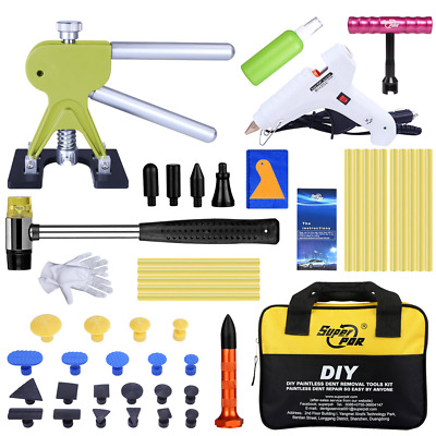 PDR Tools Car Body Hail Removal Paintless Dent Repair Kit Puller Lifter Glue Gun