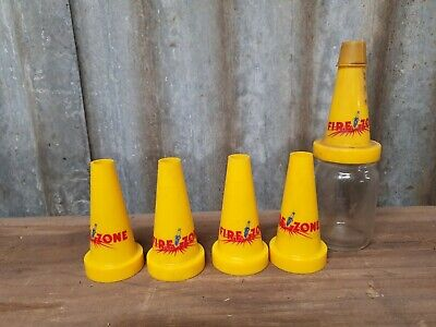 Firezone Oil Bottle And plastic Top and 4 small nos  firezone tops Golden Fleece