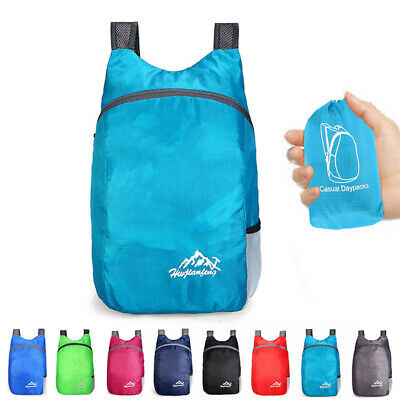 20 L Waterproof Daypack Backpack Packable Foldable Travel Bag Outdoor Polyester