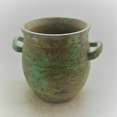 Scarce Circa 100-300Ad Roman Era Bronze Votive Vessel European Finds
