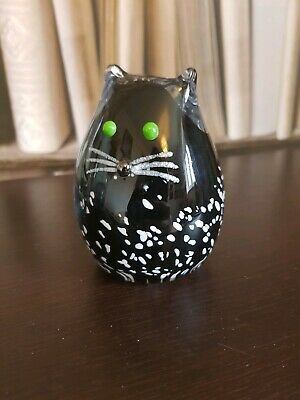 Cat Glass Paprweight