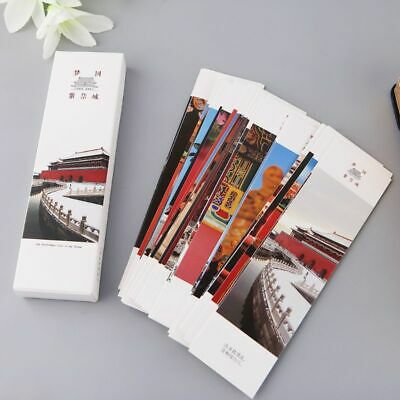 30pcs Retro Chinese Style Paper Bookmarks Painting Cards Commemorative Gifts