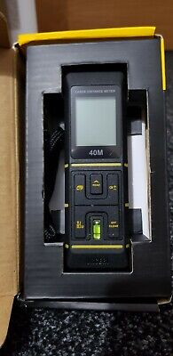 URCERI Laser Distance Meter 40m with Bubble Level, Automatic Calculation