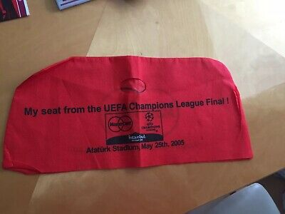 2005 Champions League Final Liverpool v AC Milan - Seat cover.  Red