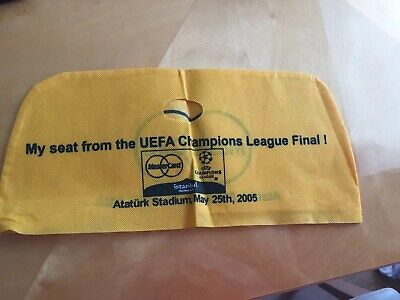 2005 Champions League Final Liverpool v AC Milan - Seat cover. Yellow