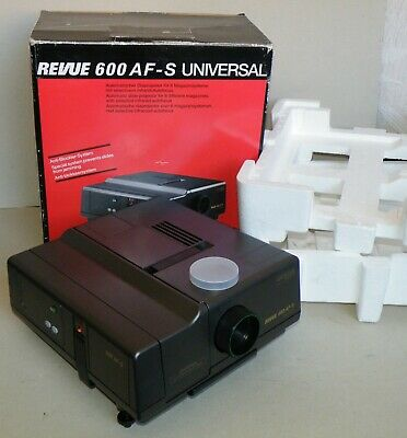Diaprojektor REVUE 600 AF-S UNIVERSAL Color Paxon 2,8/85mm MC made in Germany
