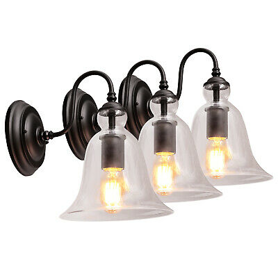 Bell Shape Clear Glass Wall Light Retro Vintage Style Bulk buy