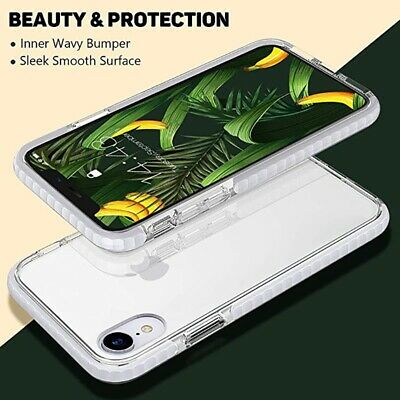 For iPhone 8 Plus XS Max XR Phone Case Clear Soft Silicone Shockproof Thin Cover