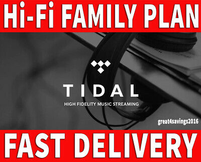 🔥TIDAL 5 Accounts Hi-Fi 2 Months FAMILYPlan +5 users | GUARANTED FAST DELIVERY