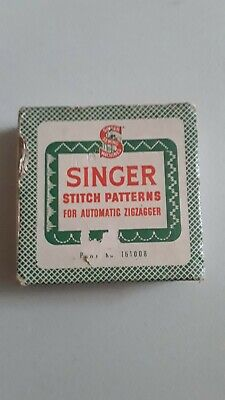 Vintage Singer Stitch Patterns for Automatic Zigzagger In Original Box 161008