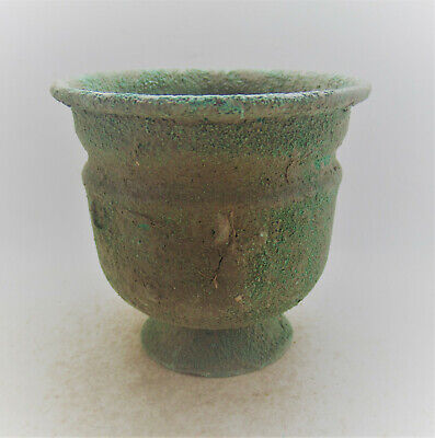Superb Ancient Roman Late Period Early Byzantine Bronze Vessel