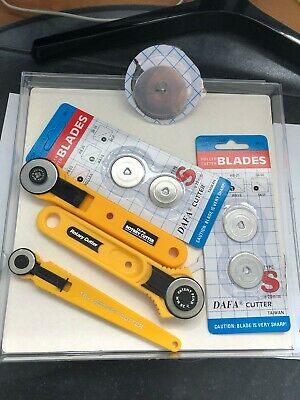 18mm, 2x28mm Round Wheel Rotary Cutters (used), spare blades (new)