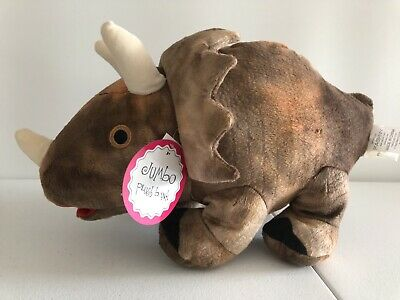 Jumbo Large Plush Brown Dinosaur Triceratops Piggy Bank  | Brown 16 Inches