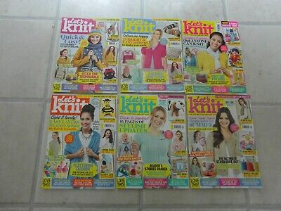 Let's Knit Magazines: Jan,  Mar, Apr, May, June, July 2019 - To Choose From