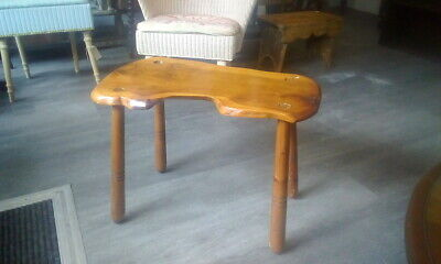 Vintage Carved Rustic Wooden Stool /table