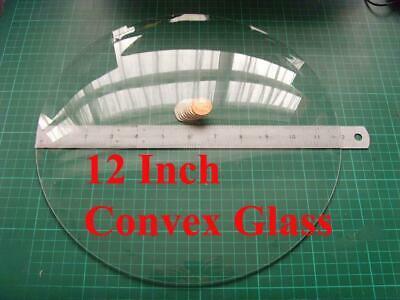 2 off 12 inch  convex glass for fusee dial clock  304mm max outer diameter