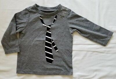 First impressions baby boy Long Sleeve Shirt With Tie 12 months