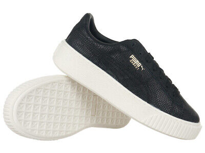 WOMEN'S PUMA BASKET Platform Euphoria Shoes Casual Sneakers Leather Trainers
