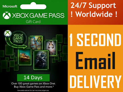 INSTANT Email Delivery - Xbox Game Pass Trial 14 days Subscription Key WORLDWIDE