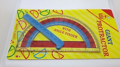 Large Protractor with Angle Finder Children's Work Office Plastic Maths Tool