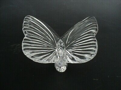 Waterford Crystal Butterfly Figurine Paperweight Signed NO DAMAGE