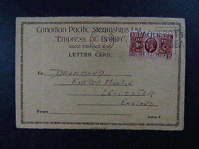 Postcard Canadian Pacific Steamships Empress of Britain Drummond England