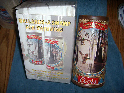 NIB Coors Stein Game Birds of the Wild MALLARDS-A SWAMP FOR SWIMMING 2nd SERIES
