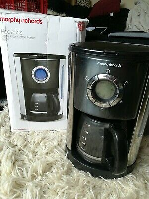 Morphy Richards Accents Filter Coffee Maker Black 12 Cups Fast Brew Digital