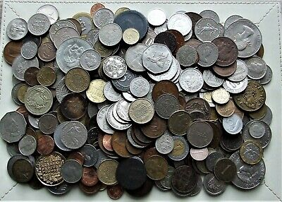 MIXEDWORLD COINSover 400 - incl. SILVER and RARE - Approx. 2Kg Wt - Batch 36