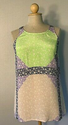 J Crew Womens Size 2 Blouse Light Summer Sleeveless Popover Gently Used Shirt