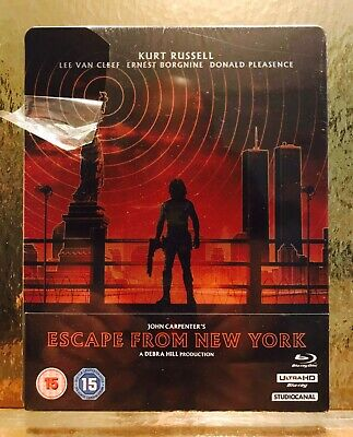 STEELBOOK Blu-ray Escape From New York   [ Zavvi 2D/4 K ] Pock Lege