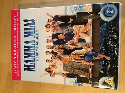 Mamma Mia Here We Go Again 2 Disc Sing-Along Edition Dvd New Cher