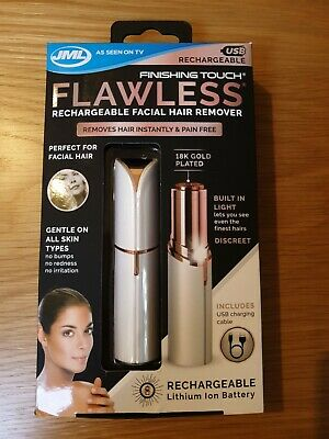 Rrp £29.99! New Jml Finishing Touch Flawless Rechargeable Facial Hair Remover
