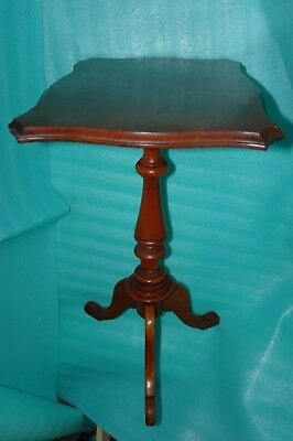 "Edwardian Mahogany Antique Table Stand 22""x16""-Lamp Stand/ Display-Coffee/Tea"