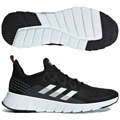 Mens Adidas Asweego Black White Red Running Fitness Athletic Shoes F37038