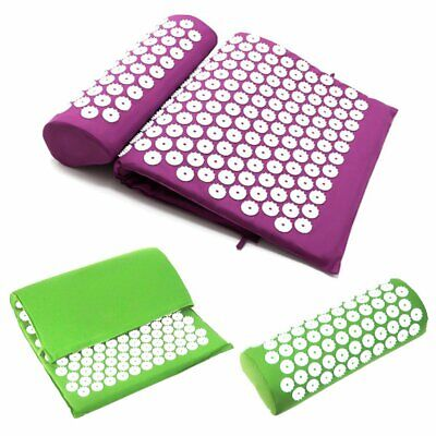 Massage Acupressure Mat Yoga Sit Lying Mats Release Pain Stress Relax Pillow KU