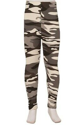 Grey Camo Amazing Buttery Soft Leggings Kid's S/M & L/XL