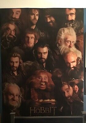 *RARE* The Hobbit An Unexpected Journey Dwarves BUS SHELTER MOVIE POSTER 4'x6'