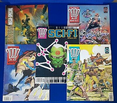 2000AD comic specials bundle, Sci-Fi Special,2000 AD Monthly, Dredd Mega-Special