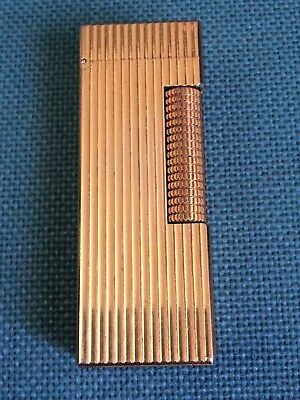 DUNHILL Superbo Vintage Accendino Plaque Oro Us.re. 24163 Patente SWISS Made