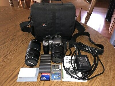 Canon EOS Digital Rebel / EOS 300D 6.3MP Digital SLR Camera With Case & Extras