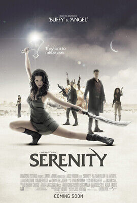 SERENITY MOVIE POSTER Double Sided ORIGINAL RARE INTL 27x40 JOSS WHEDON
