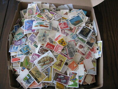 Worldwide Two Pound Box Lot Off Paper - Great Selection Over 900 Grms
